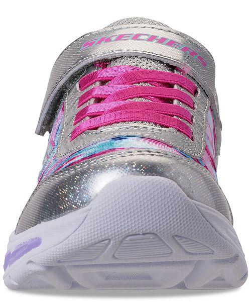 a3586eebfde1 ... Skechers Little Girls  S Lights  Litebeams - Dance N Glow Light Up  Running Sneakers ...