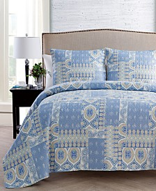 VCNY Home Adisa Patchwork 3-Pc. Quilt Set Collection
