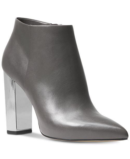 6a1f7337e277 Michael Kors Paloma Metallic-Heel Booties   Reviews - Boots - Shoes ...