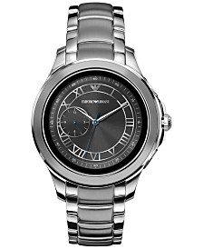 Emporio Armani Men's Stainless Steel Bracelet Touchscreen Smart Watch 46mm