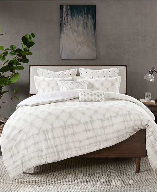 INK+IVY Fiji 3-Pc. Full/Queen Cotton Duvet Cover Mini Set