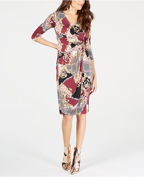 8c34bec6cb5 ... Thalia Sodi Floral-Print Faux-Wrap Dress