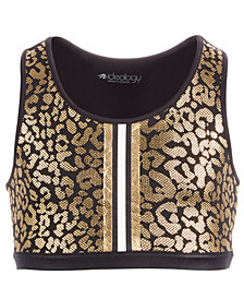 Ideology Big Girls Plus Animal-Print Sports Bra, Created for Macy's