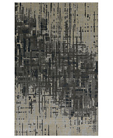"Macy's Fine Rug Gallery Mosaic Reece Pewter 3'3"" x 5'1"" Area Rug"