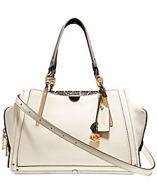 COACH Exotic Mixed Leather Dreamer Satchel