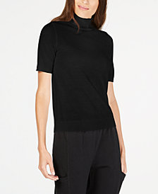 Eileen Fisher Mock-Neck Wool Sweater
