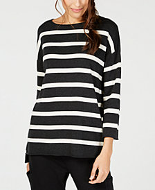 Eileen Fisher Striped Organic-Cotton Swea