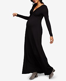 A Pea In The Pod Maternity Twist-Front Maxi Dress