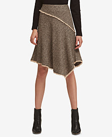DKNY Asymmetrical Tweed Skirt, Created for Macy's