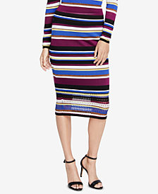 RACHEL Rachel Roy Royal Striped Sweater Skirt, Created for Macy's