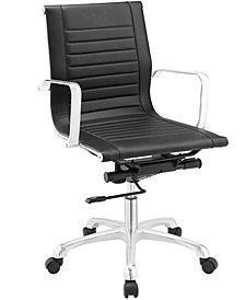 Modway Runway Mid Back Upholstered Vinyl Office Chair