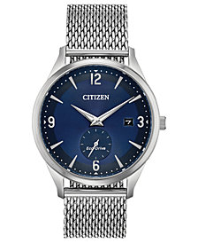 Citizen Drive from Citizen Eco-Drive Men's Stainless Steel Mesh Bracelet Watch 40mm