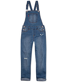 Levi's® Little Girls Girlfriend Overalls