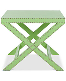 Jeanine X End Table, Quick Ship