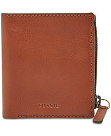 Fossil Men's Philip Leather Zip Wallet