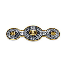 2028 Gold-Tone and Silver-Tone Floral Hair Barrette