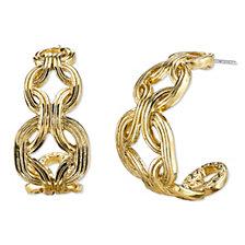 2028 Gold-Tone Hoop Earrings