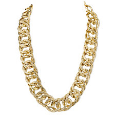 "2028 Gold-Tone Link Collar Necklace 16"" Adjustable"