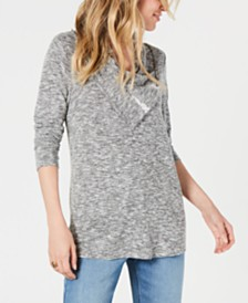 Style & Co Petite Cowl-Neck Top, Created for Macy's