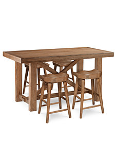 Brewing Collection, 5-Pc. Furniture Set (Gathering Table & 4 Hops Saddle Seat Gathering Stools)