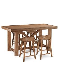 Brewing Collection, 5-Pc. Furniture Set (Gathering Table & 4 Hops Saddle Seat Gathering Stools)