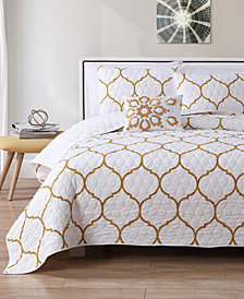 VCNY Home Ogee Metallic Quilt Set Collection