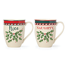 Lenox Naughty & Nice 2-Pc. Mug Set