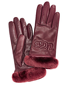 UGG® Classic Leather & Shearling Smart Gloves