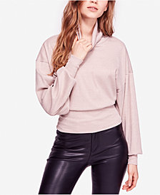 Free People Glam Banded Turtleneck Top