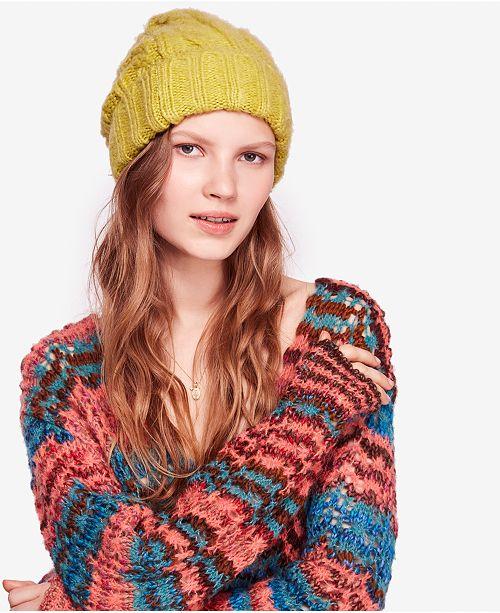 48f0d449ed25b Free People Harlow Cable-Knit Beanie. Macy s   Women   Women s Brands