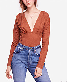 Free People Maven Ruched Plunging Top