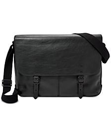 Men's Leather Buckner Messenger Bag