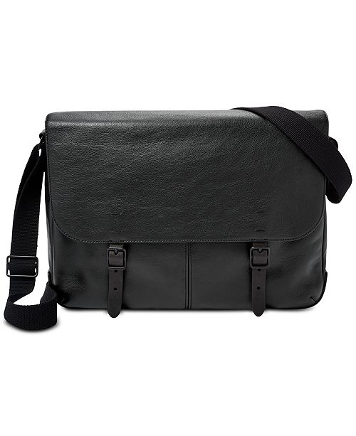 fbaf8251ae72 Fossil Men s Leather Buckner Messenger Bag  Fossil Men s Leather Buckner  Messenger ...