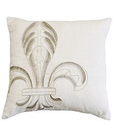 Embroidery Fleur De Lis 18x18 Pillow