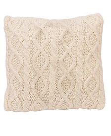 "18""x18"" Cable Knit Pillow"