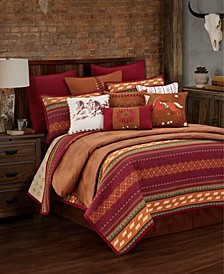 Reversible Solace 3 Pc Full/Queen Quilt Set