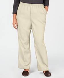 Karen Scott Plus Size Mid-Rise Pull-On Pants, Created for Macy's