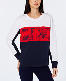 Tommy Hilfiger Sport Embroidered Logo Colorblock Sweatshirt, Created for Macy's