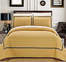 Chic Home Birmingham 3 Piece Queen Quilt Set
