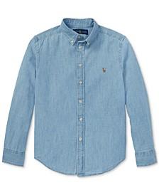Big Boys Cotton Chambray Sport Shirt