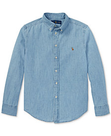 Polo Ralph Lauren Big Boys Cotton Chambray Sport Shirt
