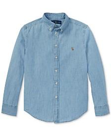 Polo Ralph Lauren Big Boys Cotton Chambray Sport Shirt