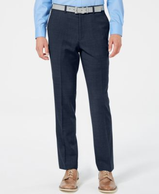 Men's Slim-Fit Stretch Flannel Suit Pants, Created for Macy's