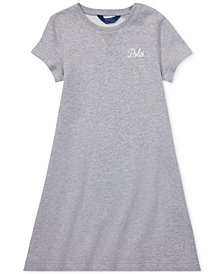 Polo Ralph Lauren Big Girls Embroidered French Terry Dress