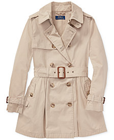 Polo Ralph Lauren Big Girls Cotton Trench Coat