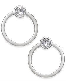 Alfani Silver-Tone Crystal & Hoop Stud Earrings, Created for Macy's