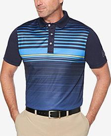 PGA TOUR Men's Ombré Engineered Stripe Golf Polo