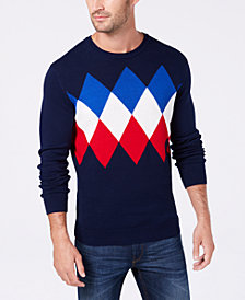 Club Room Men's Argyle Sweater, Created for Macy's