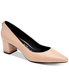 Calvin Klein Women's Nita Block-Heel Pumps