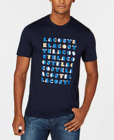 Lacoste Men's 3D Flocked Graphic Letter T-Shirt